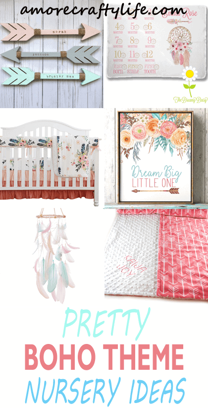 boho nursery ideas -tribal - girl nursery theme - amorecraftylife.com #baby #nursery #babygift