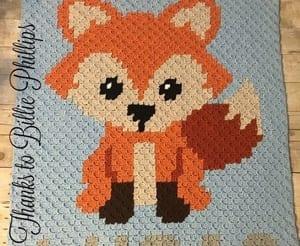 blanket fox crochet pattern - c2c blanket crochet pattern - amorecraftylife.com #crochet #crochetpattern #diy