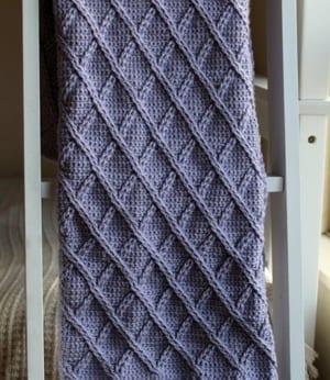 cable blanket crochet pattern - afghan crochet pattern - amorecraftylife.com #crochet #crochetpattern #diy