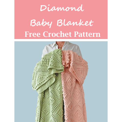 diamond baby blanket crochet pattern - amorecraftylife.com #baby #crochet #crochetpattern #freecrochetpattern
