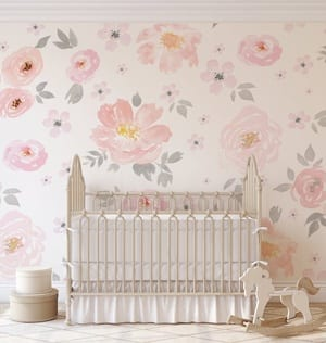 floral nursery ideas- girl nursery theme - flowers nursery - amorecraftylife.com #baby #nursery #babygift #babygirl