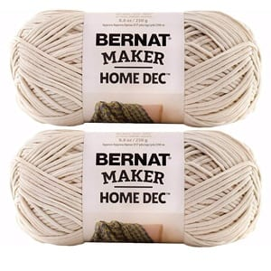bernat maker home dec yarn cream