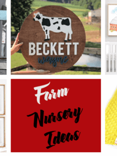 farm nursery themes ideas- boy girl decor amorecraftylife.com #baby #nursery #babygift