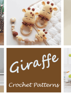 giraffe crochet patterns- toy crochet pattern- amigurumi amorecraftylife.com #crochet #crochetpattern #diy