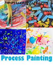 painting process art - painting kid craft - amorecraftylife.com #kidscrafts #craftsforkids #preschool