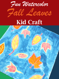 watercolor fall leaves kid crafts- fall kid craft - autumn kid craft - amorecraftylife.com #kidscrafts #craftsforkids #preschool #fall