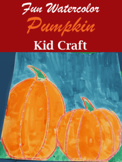 watercolor pumpkin kid crafts- fall kid craft - autumn kid craft - amorecraftylife.com #kidscrafts #craftsforkids #preschool #fall