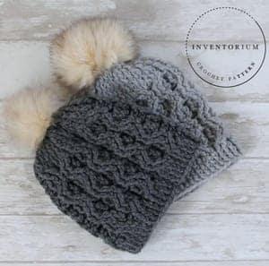 cable hat crochet pattern - winter hat - beanie crochet pattern - amorecraftylife.com #hat #crochet #crochetpattern