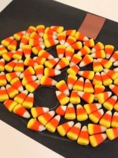 candy corn jack-o-lantern kid craft - halloween kid craft -amorecraftylife.com #kidscraft #craftsforkids #preschool