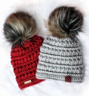 beginner crochet patterns - winter hat crochet patterns - crochet pattern pdf - amorecraftylife.com #crochet #crochetpattern