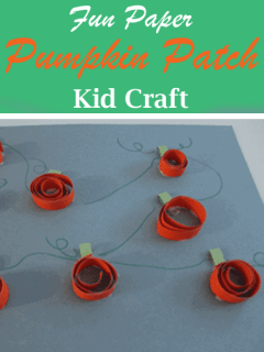 paper pumpkin patch kid craft - fall kid craft - harvest kid craft - farm - amorecraftylife.com #kidscrafts #craftsforkids #preschool #fall