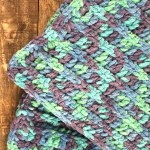 Easy Baby Blanket Crochet Pattern Beginner Ocean Stripes A More Crafty Life
