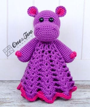 10 Cute Hippo Amigurumi Crochet Patterns Free and Paid | Crochet ... | 356x300