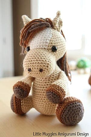 031 Crochet Pattern - HorsE-Bookmark or decor - Amigurumi PDF file ... | 450x300