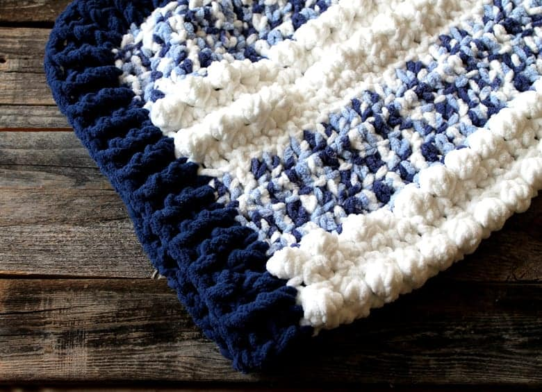 Easy Blue Clouds Baby Blanket Free Pattern A More Crafty Life