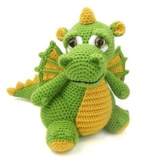 crochet dragon pattern- crochet pattern pdf - amigurumi amorecraftylife.com #crochet #crochetpattern