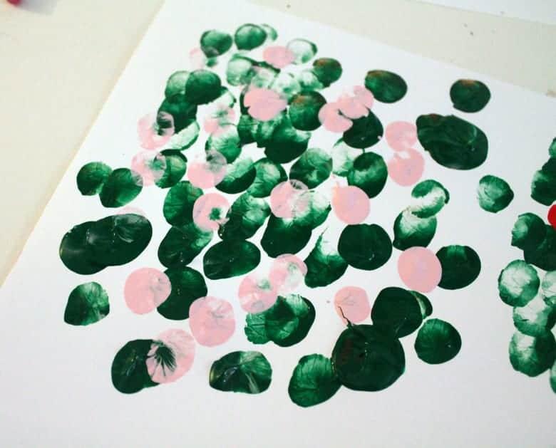 fingerprint spring tree kid crafts- cherry blossom kid craft - crafts for kids - amorecraftylife.com #kidscrafts #craftsforkids #preschool #spring
