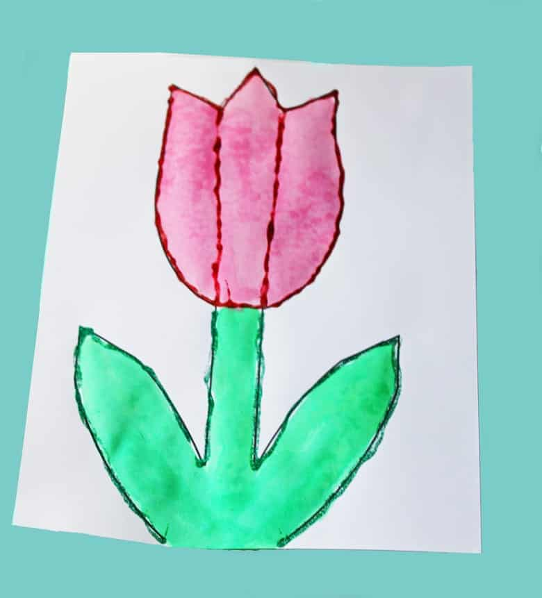printable tulip template kid crafts crafts for kids - spring craft for kids -amorecraftylife.com #kidscraft #craftsforkids #preschool