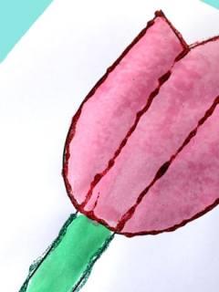 printable tulip template kid crafts crafts for kids - spring craft for kids -amorecraftylife.com #kidscraft #craftsforkids #preschool