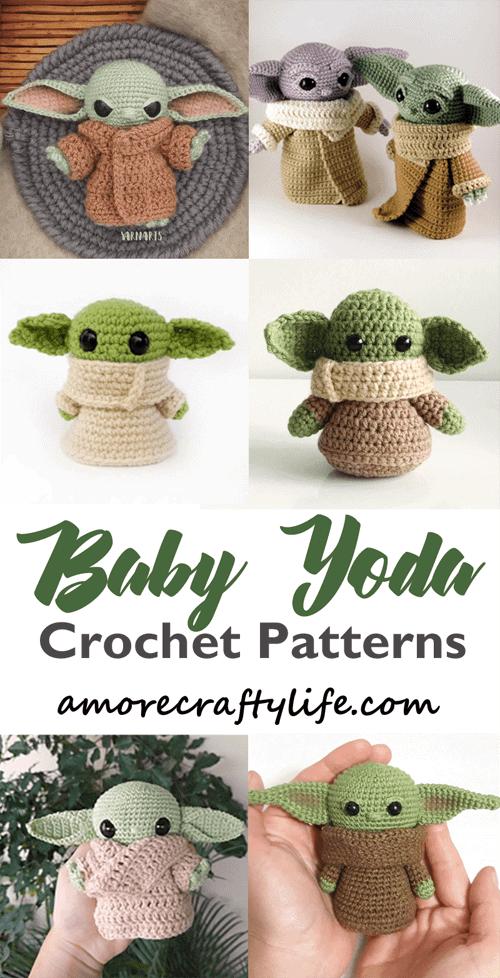 Crochet Baby Yoda Patterns - baby alien - the child #crochet #crochetpattern #diy