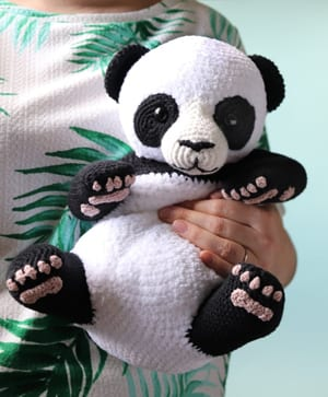Crochet Panda Bear Amigurumi Stuffed Toy Handmade SALE 15 | Urso ... | 363x300