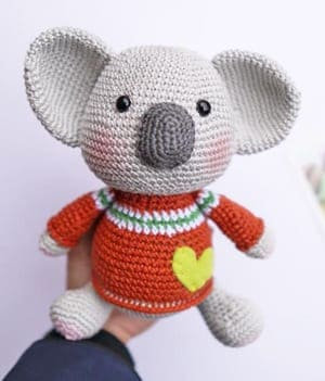 koala girl Candy - crochet pattern PDF | 351x300