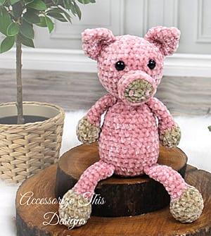 crochet pig pattern- piggy crochet pattern pdf - amigurumi amorecraftylife.com #crochet #crochetpattern