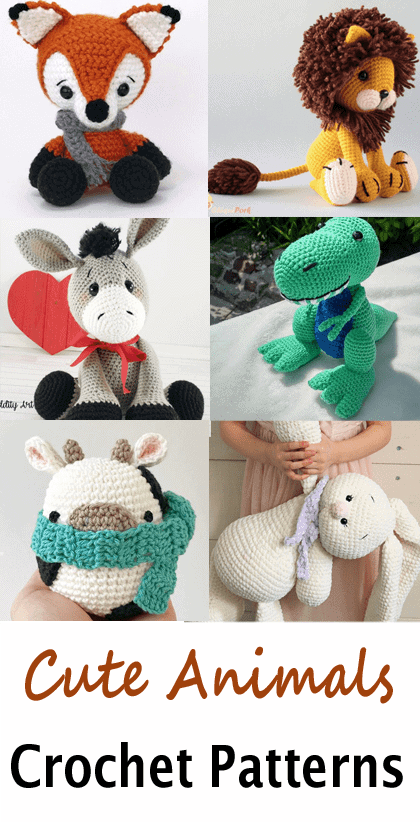 15 CUTE ANIMAL CROCHET TOY PATTERNS - Hello Wonderful | 822x420