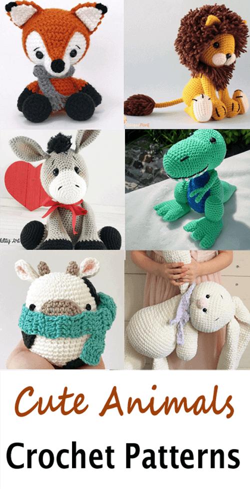 crochet animal patterns- amigurumi crochet pattern - stuffed toy pattern #crochet #crochetpattern #diy #amigurumi