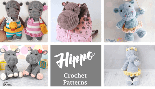 Make a cute stuffed hippo toy. crochet hippo patterns- amigurumi hippopotamus crochet pattern - stuffed toy pattern #crochet #crochetpattern #diy #amigurumi