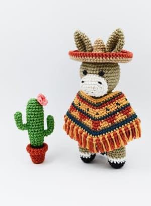 crochet donkey patterns- amigurumi crochet pattern - stuffed toy pattern #crochet #crochetpattern #diy #amigurumi