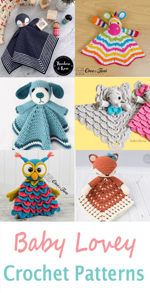 baby Lovey Crochet Patterns - Cute Gifts - A More Crafty Life - baby blanket #crochet #crochetpattern #baby