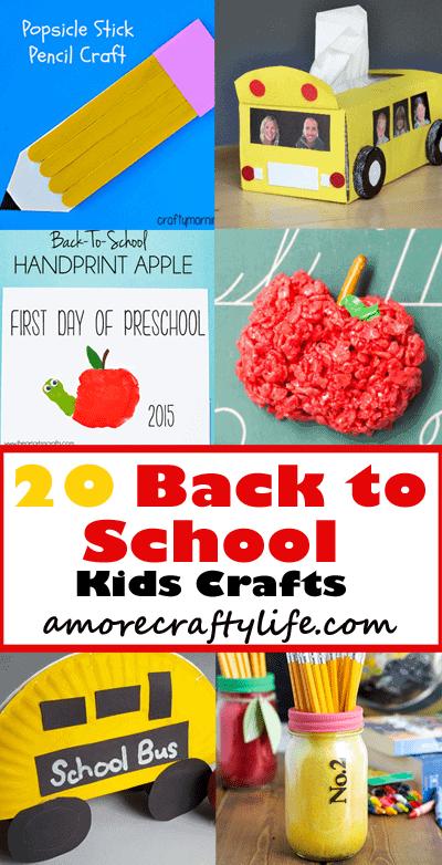 back to school Kid Crafts- fall kid craft - amorecraftylife.com #kidscrafts #craftsforkids #preschool