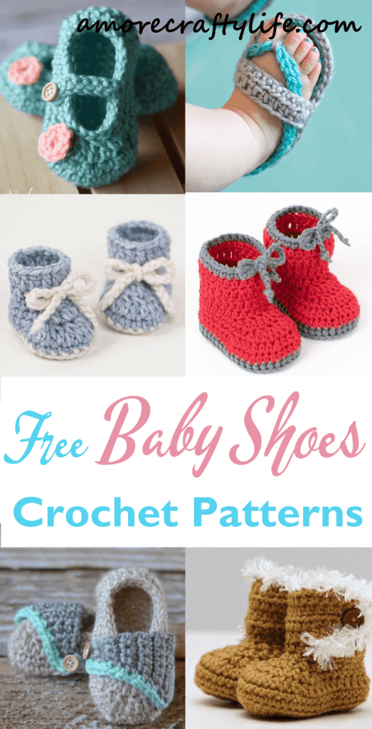 free baby shoes crochet patterns - baby gift - crochet pattern pdf - amorecraftylife.com #crochet #crochetpattern #baby