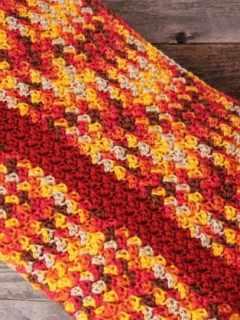 autumn sunset striped crochet blanket pattern - amorecraftylife.com - crochet throw blanket - free printable crochet pattern #crochet #crochetpattern #freecrochetpattern