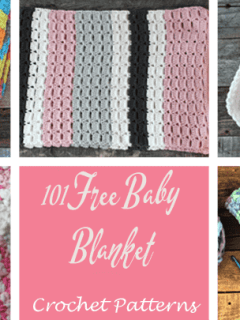 101 free babies' blanket crochet pattern - baby lovey - baby cocoon - amorecraftylife.com #baby #crochet #crochetpattern #freecrochetpattern