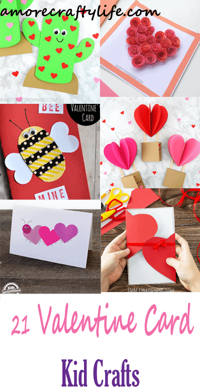valentines day card kid crafts - arts and crafts activities -valentines day kid craft- amorecraftylife.com #kidscraft #craftsforkids #valentinesday #preschool