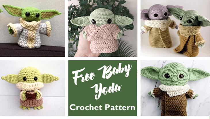 Crochet Baby Yoda Patterns free - baby alien - the child - amigurumi #crochet #crochetpattern #diy