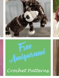 free crochet animal patterns - amigurumi crochet pattern - amorecraftylife.com #crochet #crochetpattern #diy #amigurumi