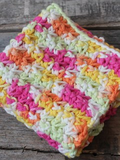 easy over the rainbow trinity stitch crochet dishcloth pattern - free printable pdf - amorecraftylife.com #crochet #crochetpattern #freecrochetpattern