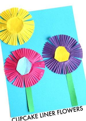 flower kid crafts - crafts for kids - kid craft -#kidscraft #preschool #craftsforkids amorecraftylife.com