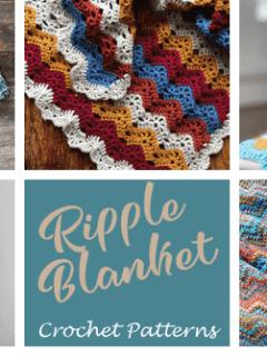 ripple crochet blanket pattern - crochet throw pattern- crochet blanket pattern -amorecraftylife.com #crochet #crochetpattern