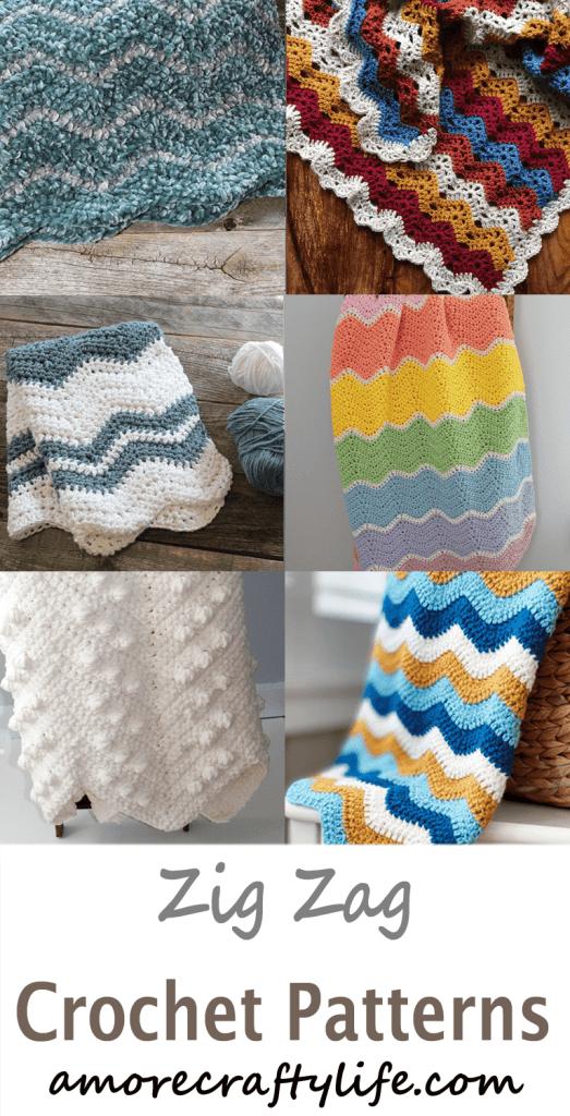 zig zag crochet pattern -amorecraftylife.com #crochet #crochetpattern