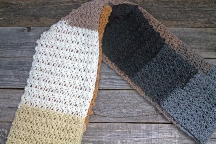 free color block infinity scarf crochet pattern - easy infinity scarf pattern - amorecraftylife.com