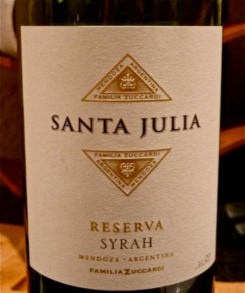santa julia reserva syrah