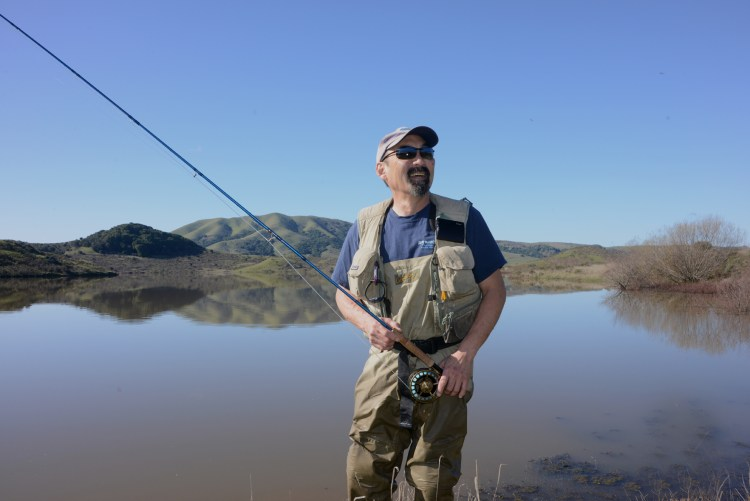 West Marin fly fishing portrait
