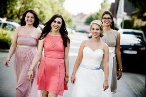 group of friends girls only at wedding day