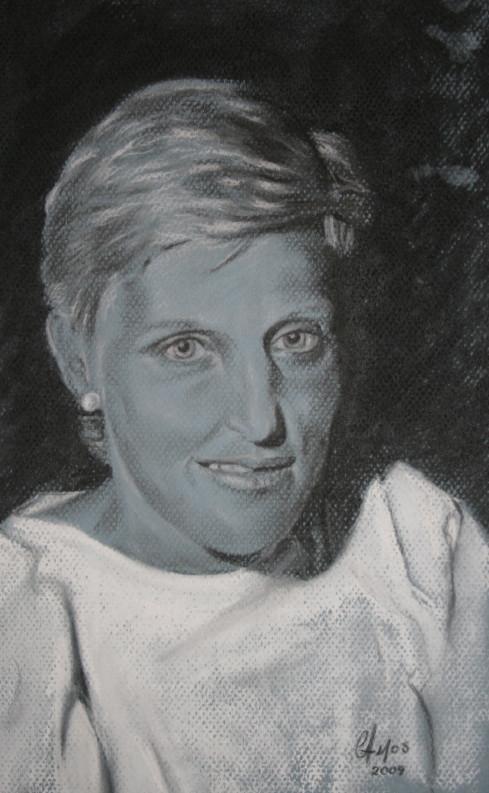 Commission - White pastel pencil
