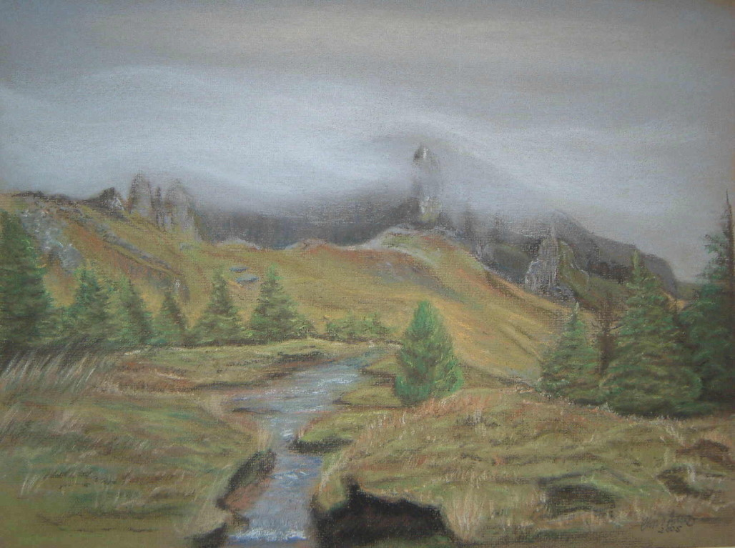 The Old Man Of Storr - Pastels