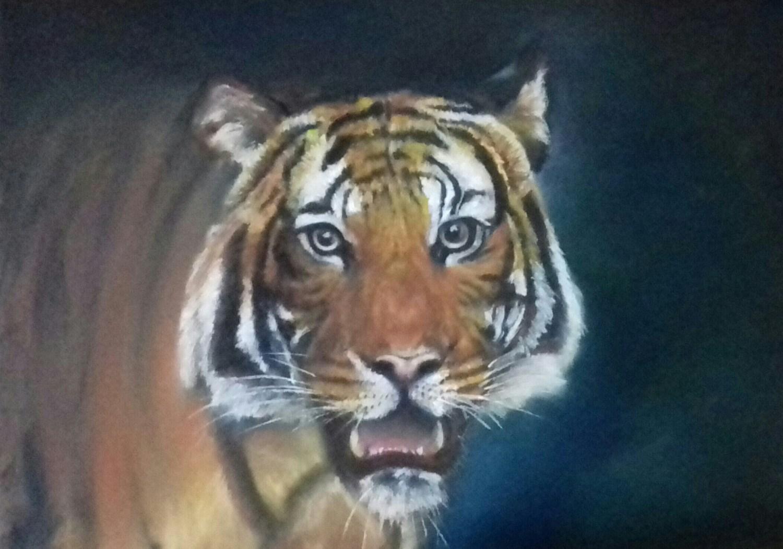 Bengal Tiger - Soft pastels